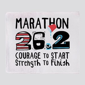 Marathon Courage Throw Blanket